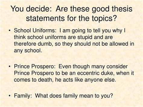 thesis statement for family ppt effective writing for narrative expository and