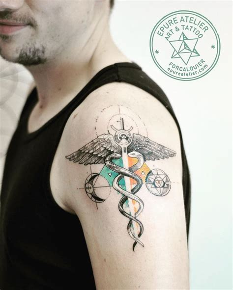 nurse symbol tattoo designs 25 best ideas about caduceus on