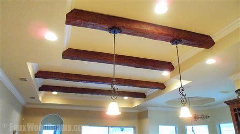 diy hanging lights installation faux wood workshop