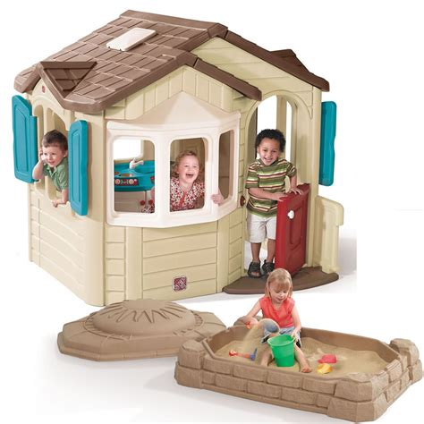 welcome home playhouse sandbox combo outdoor play by