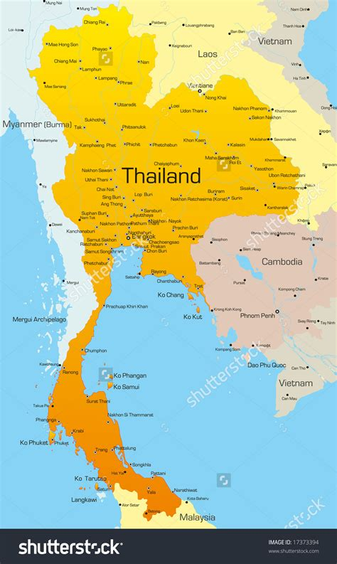 map of thailand country thailand map clipart 64