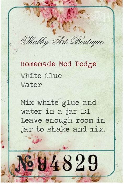 diy mod podge recipe mod podge recipe craft supplies to buy or make pint