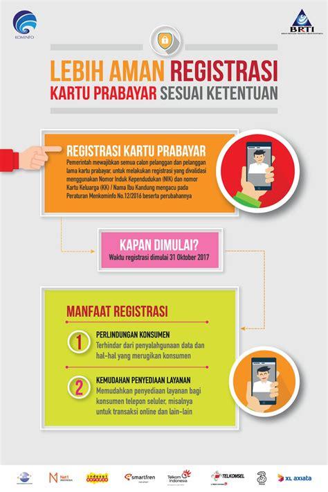 format daftar ulang kartu kartu prabayar wajib registrasi ulang dengan nomor kk dan
