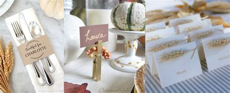 place card ideas 10 creative easy thanksgiving place card ideas rustic