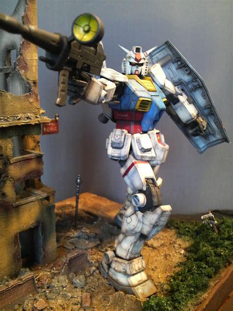 Diorama Gundam Gunpla gunpla diorama 1 100 mg rx 78 2 gundam weathered damaged photoreview no 10 size images