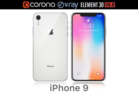 3d apple iphone xr white cgtrader
