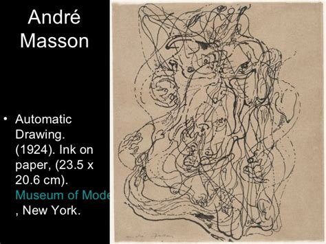 Andre Masson Automatic Drawing Surrealism