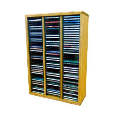 Rack Capacity by Wood Shed Solid Oak Cd Rack 120 Cd Capacity Tws 309 2