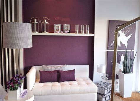 Purple Living Room Wall Color How To Decorate With Purple In Dynamic Ways