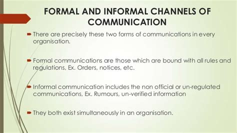 Formal And Informal Credit System Channels Of Communication
