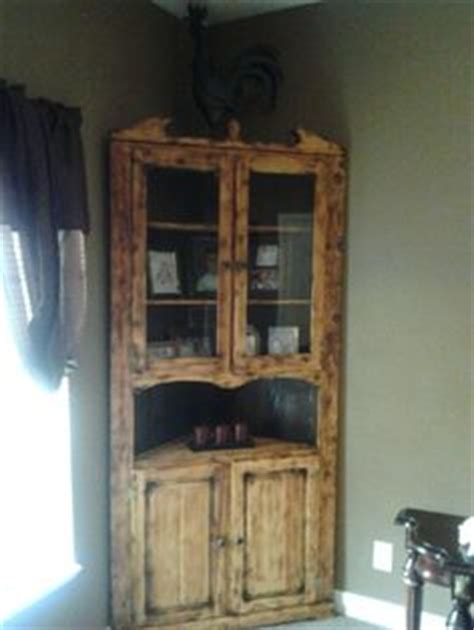 rustic corner china corner ideas on pinterest refurbished cabinets