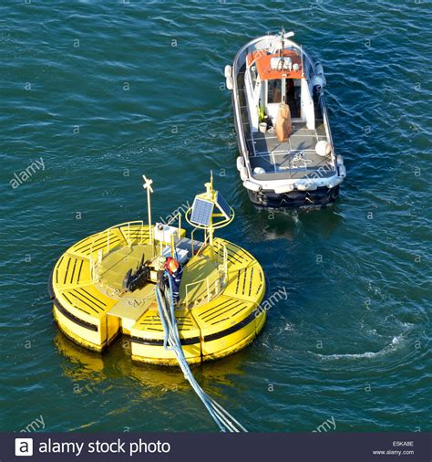 boat mooring floats mooring boat crew operative onboard a floatex floating