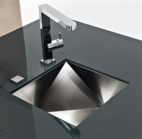 designer kitchen sink innovative sinks by franke new polyedra 3d artistic sink