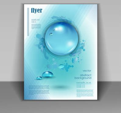 flyer design water flyer cover free vector download 5 790 free vector for