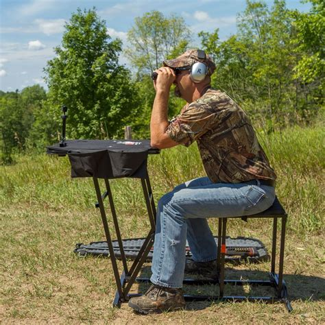 shooting bench reviews portable shooting bench with gun rest by kill shot ks sbp