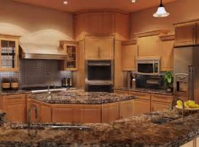 Stone Kitchen Backsplash Ideas best 25 light oak cabinets with granite ideas on