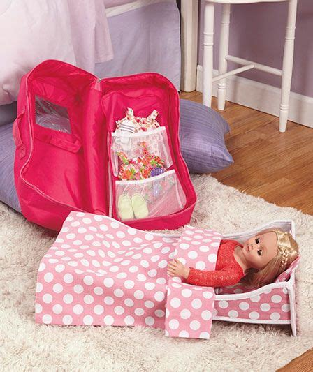 american girl doll travel bed 18 quot doll travel case with bed carley s board pinterest