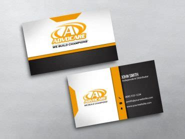 advocare business card template advocare business cards