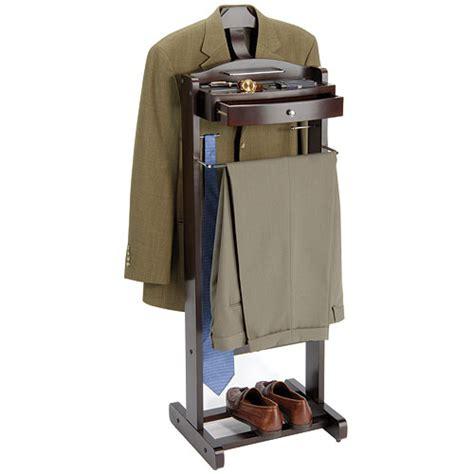 executive mens suit valet walnut in clothing racks