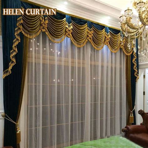 Aliexpress com buy helen curtain set luxury curtains for living room european style with