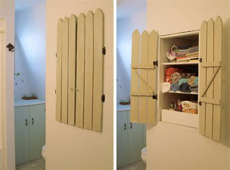 cabinet diy diy cabinet shutters hiding my clutter allender dot