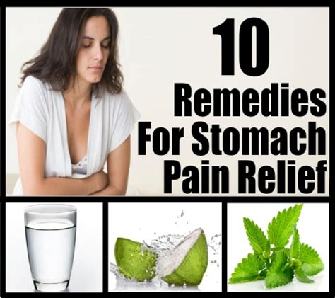 home remedies for stomach relief treatments