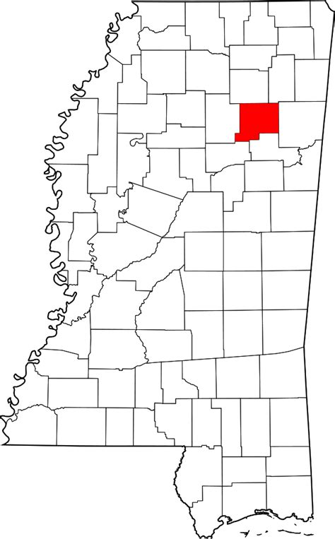 File:Map of Mississippi highlighting Chickasaw County.svg