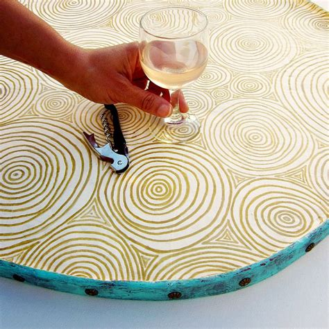 Handmade Decorative Paper - handmade decorative paper mache ottoman tray clouds