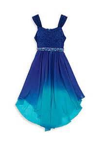 Tween a by rare editions lace to chiffon dip dye dress girls 7 16