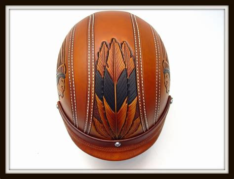 leather motorcycle helmet motorcycle helmet tooled leather indian motorcycle