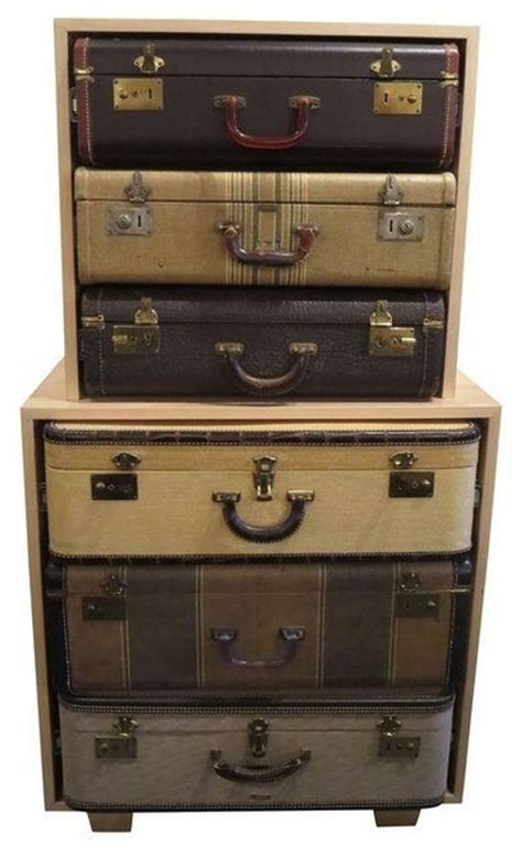 suitcase dresser vintage suitcase dresser modern chests of drawers