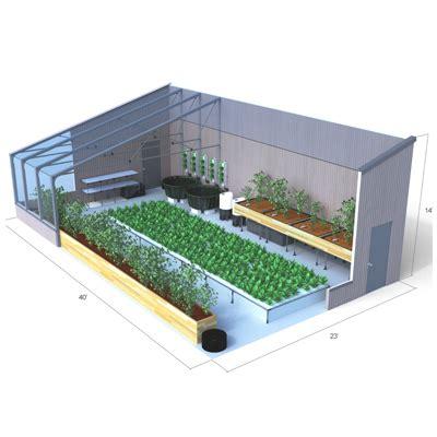 aquaponics greenhouse design   aquaponic source