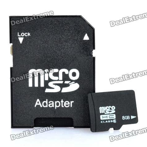 Micro Sd 8gb Kelas 6 micro sd tf card with sd card adapter black 8gb
