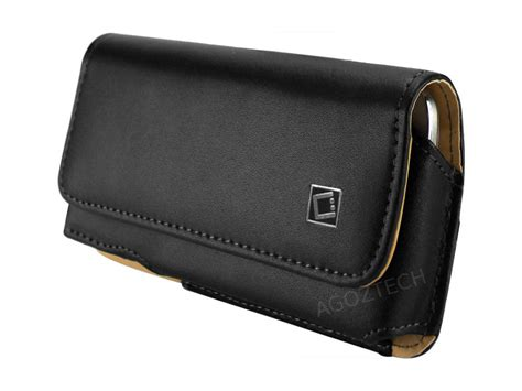 premium leather sideways swivel belt clip holster for