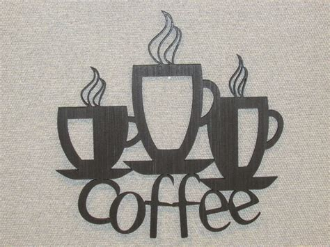 coffee wall decor 3 coffee cups laser cut wall decor kitchen sign coffee