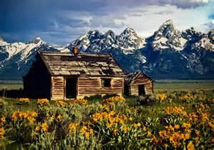 Wood Cabin Plans Grand Tetons Cabin Photograph By John Haldane