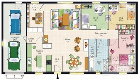 t3 combien de chambre maison plain pied 1 d 233 du plan de maison plain pied