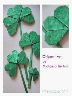 tutorial origami quadrifoglio origami quadrifoglio carta pinterest quadrifoglio