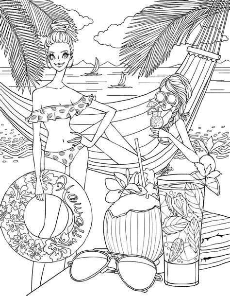 coloring pages for adults beach beach side coloring page zentangles adult colouring