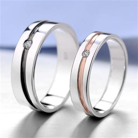 matching engraved promise ring bands for him and