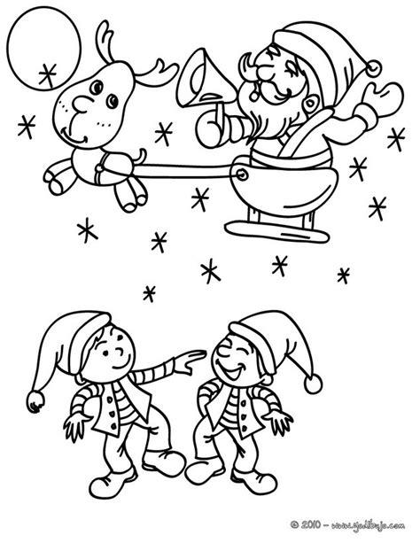 imagenes de santa claus con sus renos para colorear dibujos para colorear santa claus con su trineo navide 241 o