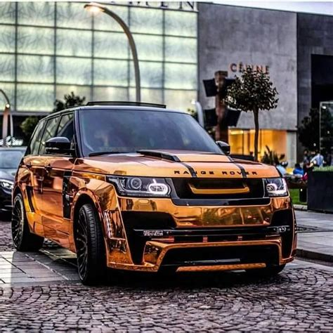 chrome range rover orange chrome range rover sport whips