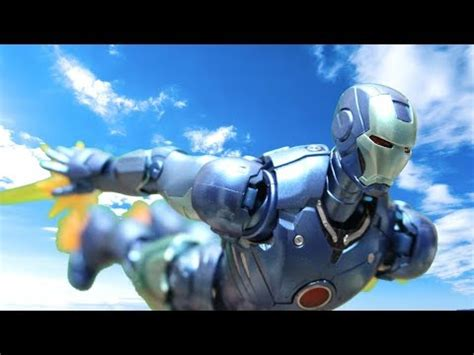 avengers stop motion iron man mark blue stealth color