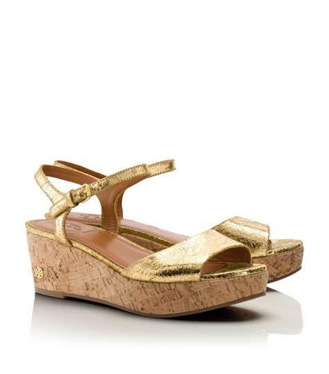 wedge sandal burch abena wedge sandal in gold lyst