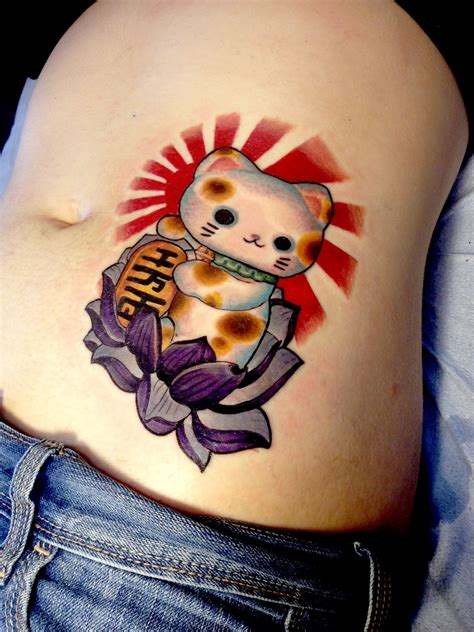 cara tattoo maneki neko by cara hanson work work work