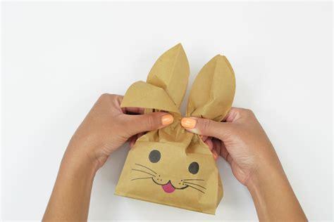 Bunny Ears Bag Rabbit how to make easter bunny treat bags