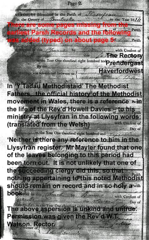 Parish Records St Meilyr S Church Archive