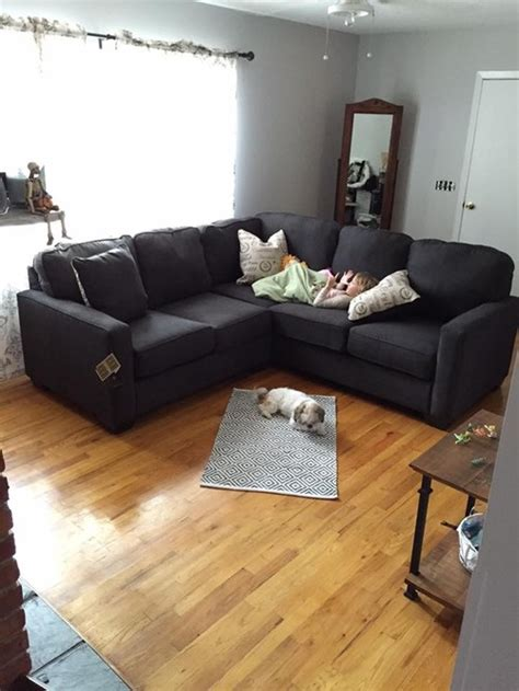 Charcoal Couch Gray Walls Decorating Help