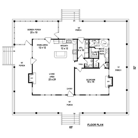one bedroom cottage floor plans 1 bedroom home plans house design