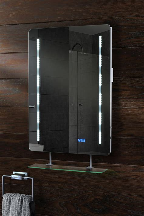 Ebay Bathroom Mirrors Quartz Illuminated Led Bathroom Mirror With Shelf Ebay